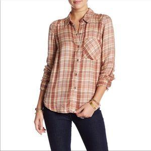 Free People | Joplin Plaid Flannel Shirt NEW Small
